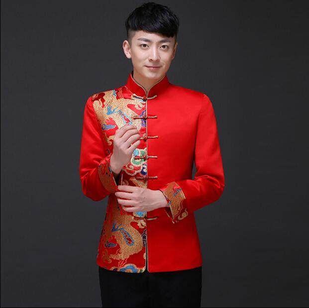 9f6562ac7c0 Traditional Men 's Chinese dress Groom dress Men cheongsam Tang Vintage  Clothing jacket
