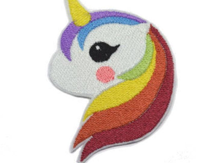 Rainbow unicorn Iron On  Applique Embroidered Patches Machine Embroidery Design for rainbow unicorn -lover
