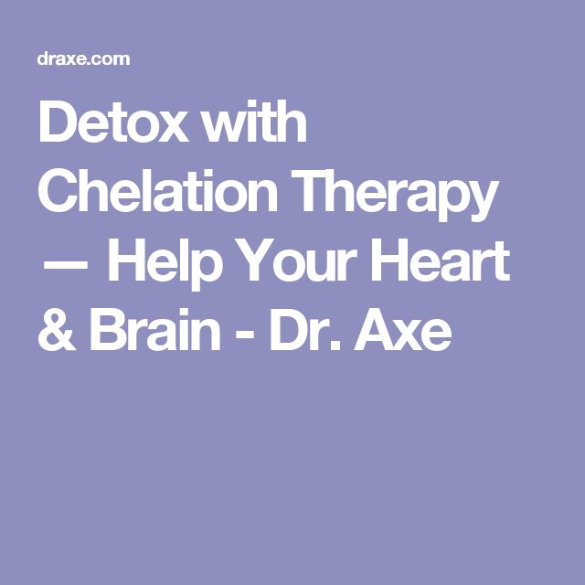 report on chelation therapy The first study, called the trial to assess chelation therapy (tact), has been   out edta chelation therapy as a treatment option based on anecdotal reports of.