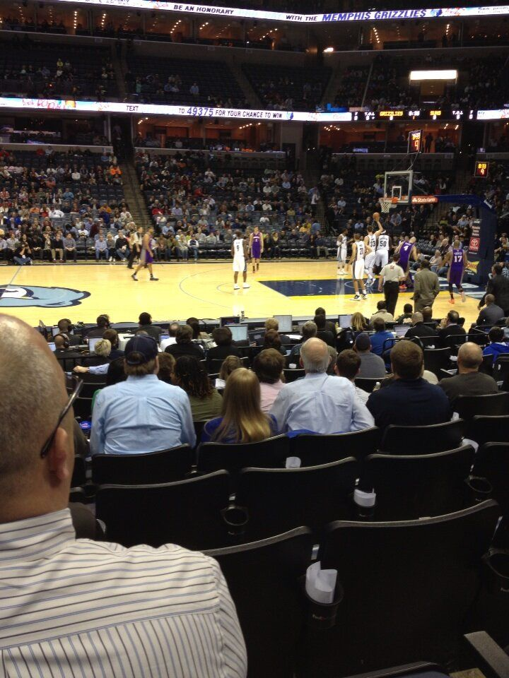Memphis Grizzlies basketball game at Fedex Forum in Memphis, Tennessee.