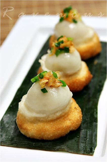 banh it ram by Ravenous Couple....fried mochi dumpling...must try this recipe out.