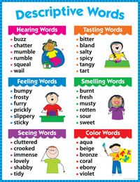 DESCRIPTIVE WORDS Writing Educational Poster Chart CTP NEW