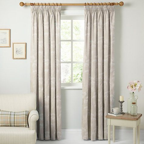 Buy John Lewis Cow Parsley Lined Pencil Pleat Curtains - Online at johnlewis.com - Large spare room curtains