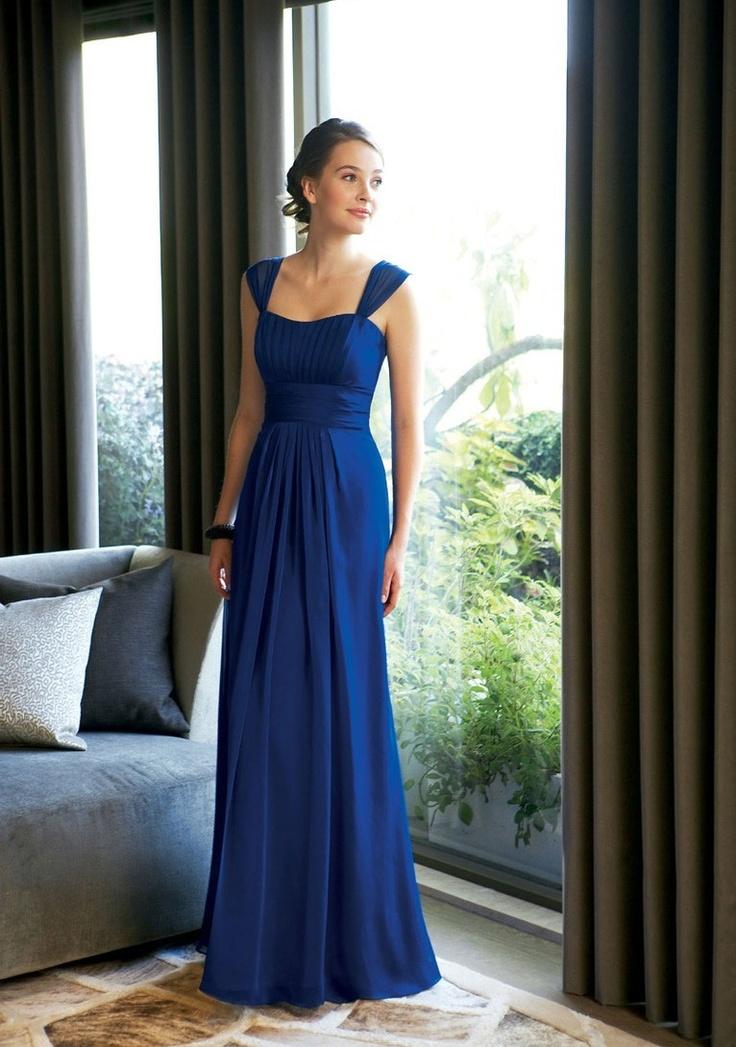 Royal blue bridesmaids dress
