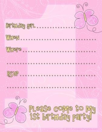 100 best free printable birthday party invitations images on free printable 1st birthday invitations for boys and girls filmwisefo