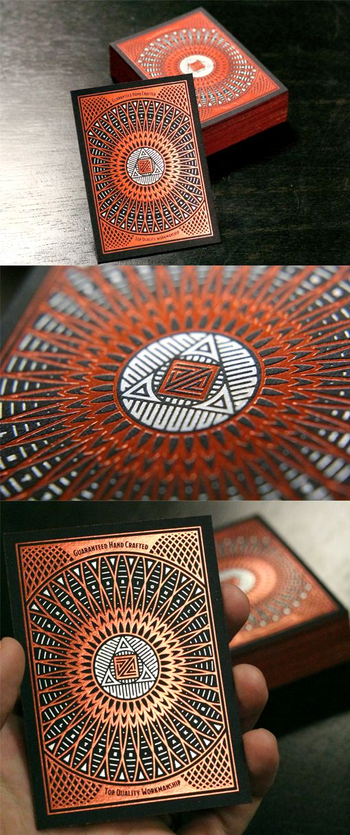 Intricate Hot Foil Stamped Business Card Design ---> Repinned by www.gers.nl