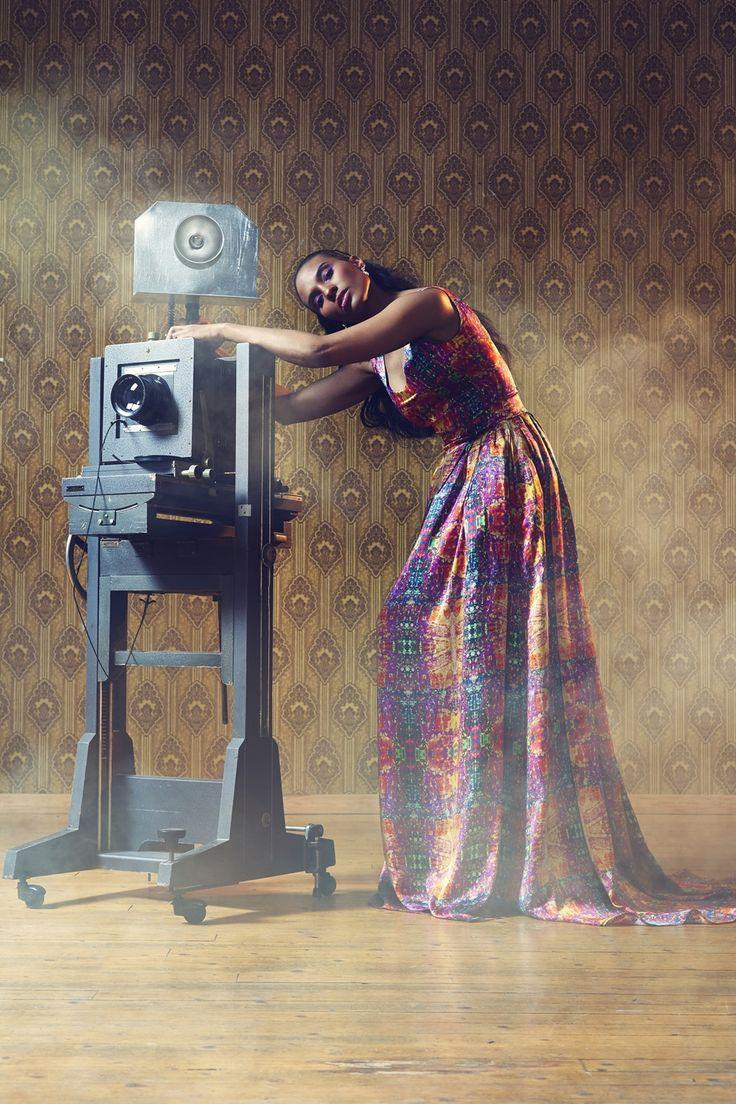 Memories dress. Photographer Nana Simelius, Model Yacine Samb, Muah Kata Niemi Make Up and Hair
