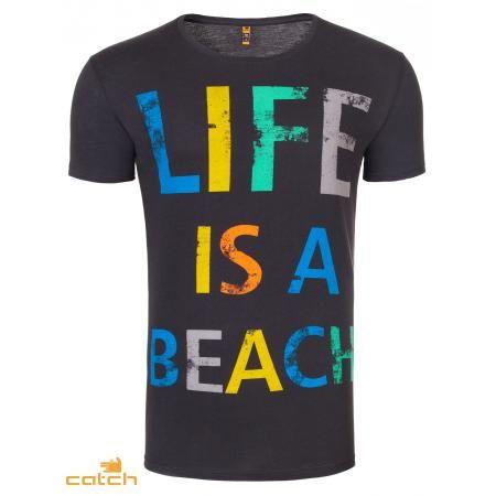 Pánske moderné tričko čiernej