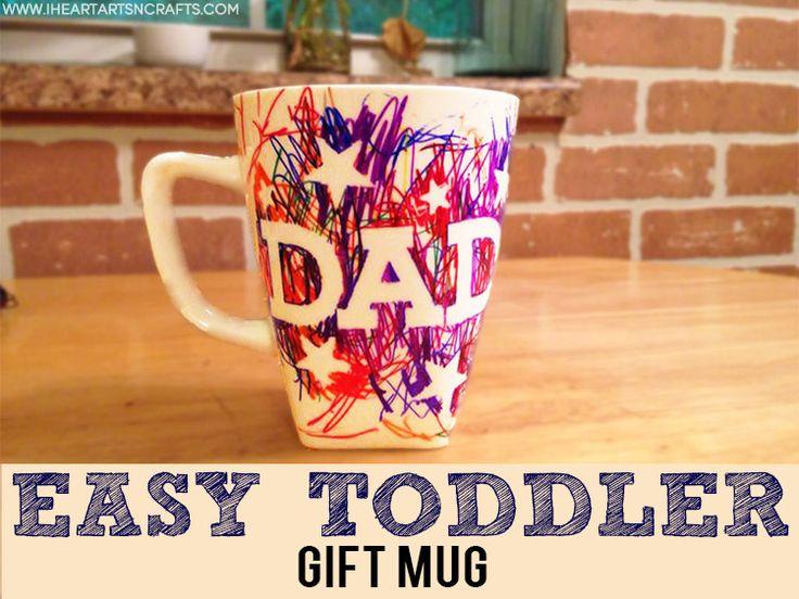 easy father 39 s day sharpie mug kids craft paint pens. Black Bedroom Furniture Sets. Home Design Ideas