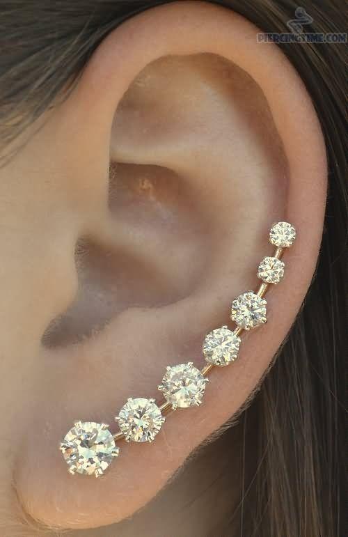 Awesome Multiple Ear Piercings For Girls