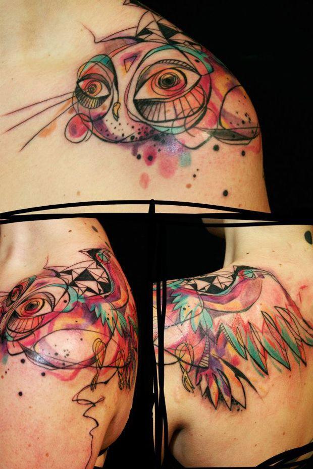 Petra Hlaváčková é uma tatuadora da República Tcheca que tem muito estilo. Confira suas tattoos cheias de sketches, cores e aquarelas!