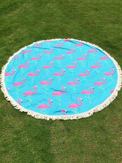 SHARE & Get it FREE | Flamingo Print Tassel Round Beach TowelFor Fashion Lovers only:80,000+ Items • New Arrivals Daily Join Zaful: Get YOUR $50 NOW!