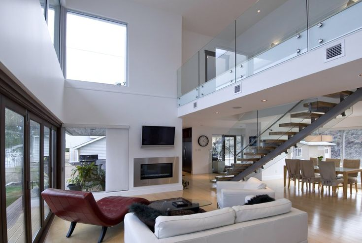 Cool modern home design open plan interior pic modern for Open plan modern house