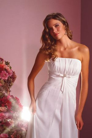 grande immagine 3 Abito da Sposa Coda A Strascico Corto con Fiocco moda Formale E Informale Naturale