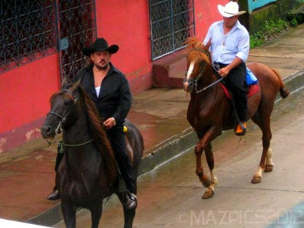 Coyboys rolling into town - Blue Fields, Nicaragua. copyright mazpics 2012