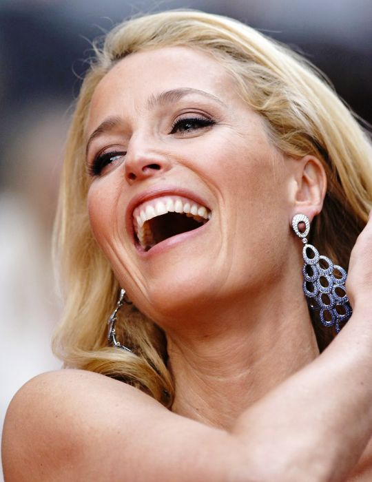 Gillian Anderson attends The Olivier Awards at The Royal Opera House in London (April 12).