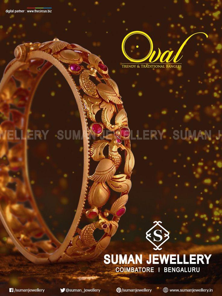 Beautifully crafted gold kada