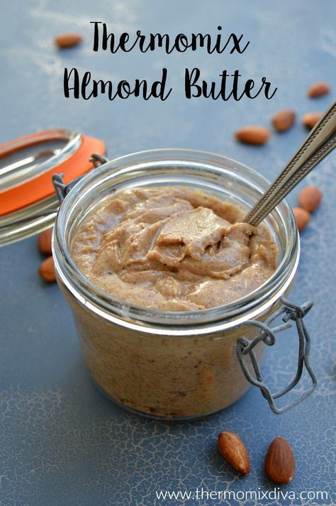 Thermomix Almond Butter - made with only almonds and ready in less than 5 minutes.
