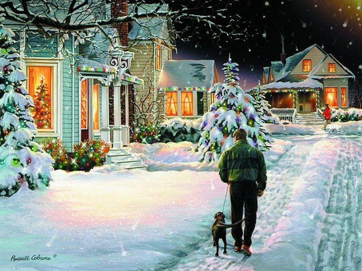christmas walking