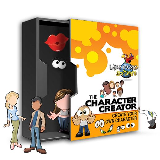 The Character Creator: Make a unique mascot or cartoon character for your web site, blog or advertisements! Drag and drop graphic design. Easy. Fast!