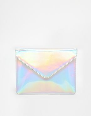 ASOS Hologram Envelope Clutch Bag