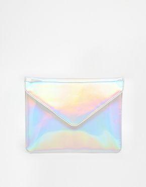Enlarge ASOS Hologram Envelope Clutch Bag