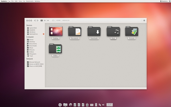 Ubuntu UI Design Concept by Silviu-Ionuț Radu, via Behance