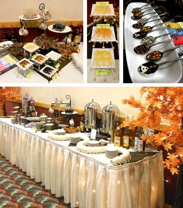 112 best images about coffee break on pinterest mesas for Coffee bar at wedding reception