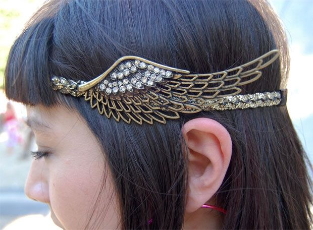 Winged headband