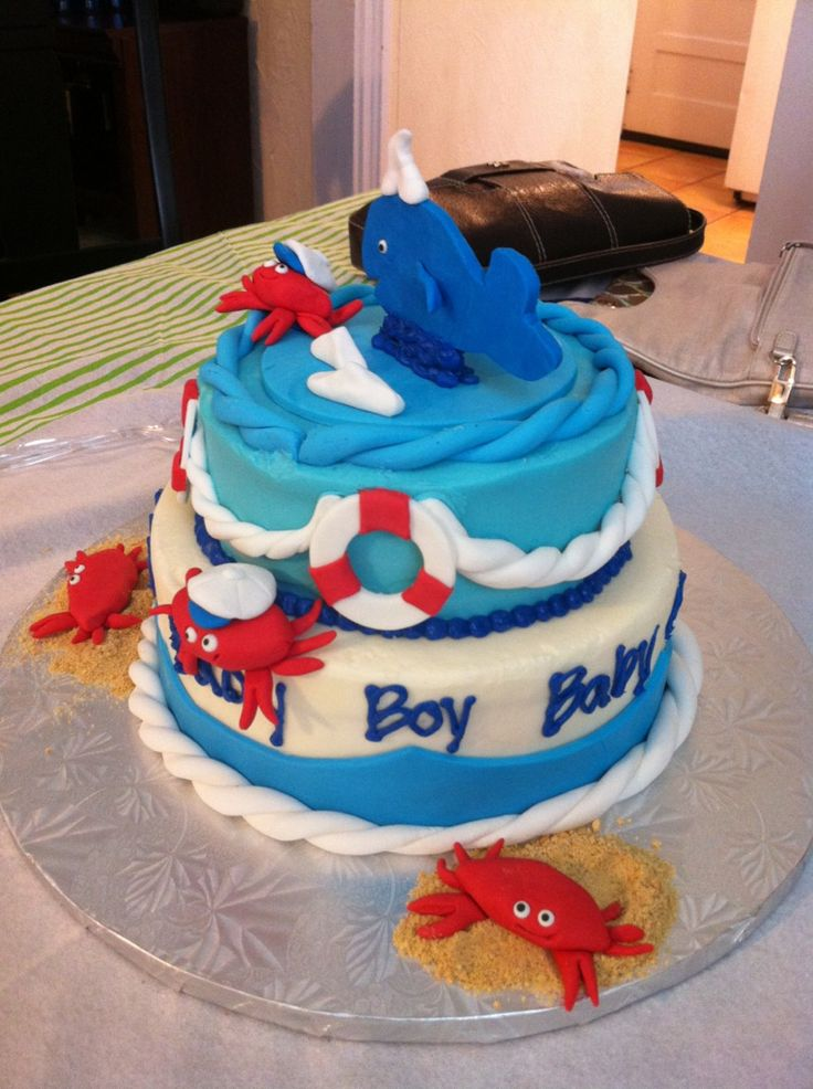 Baby Showers Boy Cakes