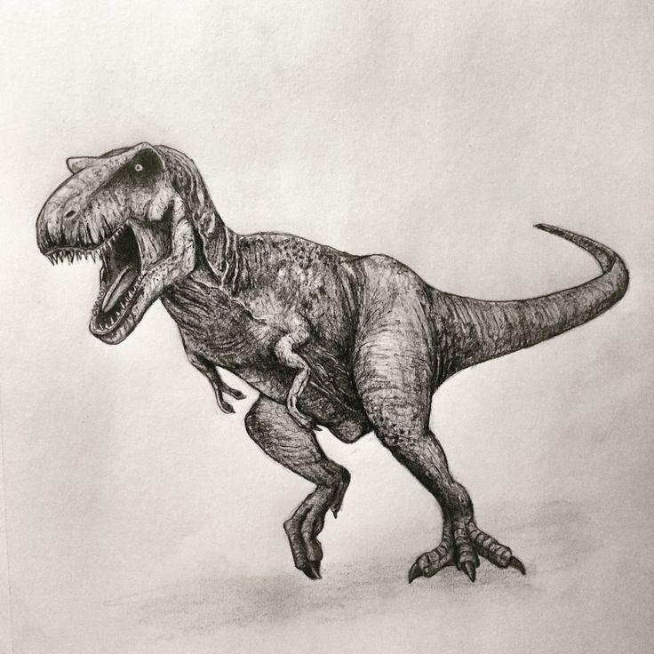 how to draw jurassic world t rex