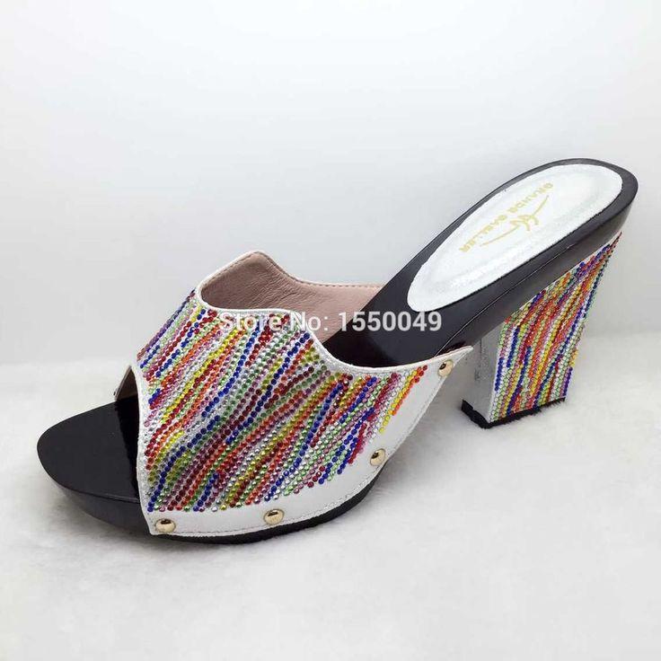 Silver High Qulaity Sandals African Slipper Summer High Heels Women Shoes Platform On Promotion alishoppbrasil