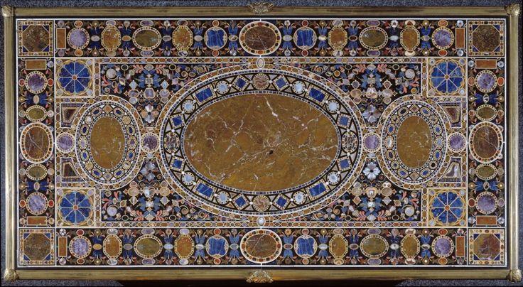 Tablero de Felipe II Antes de 1587. Ágata, Jaspe, Lapislázuli, Mármol africano, Mármol blanco