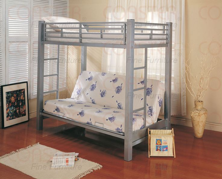 What do you think about this bunk bed for a 10 year old?Futons Metals, Twin, Bunk Beds, Kids Room, Silver Finish, Metals Bunk, Loft Beds, Bunkbeds, Futons Bunk