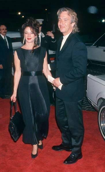 Marcia Firesten & Alan Rickman attend the 51st Annual Golden Globe Awards - Beverly Hilton Hotel in Beverly Hills, California (January 22, 1994)