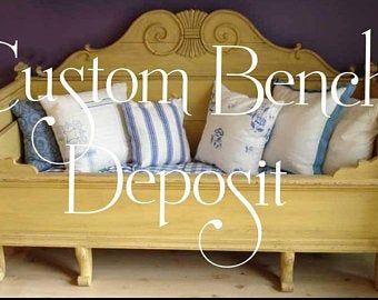 Custom Bench, Hall Bench, Headboard Bench, Unique Bench Porch Bench , Bed Bench By Foo Foo La La