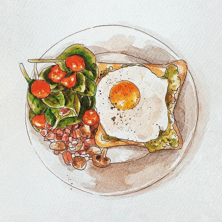 Картинки блюд нарисованные