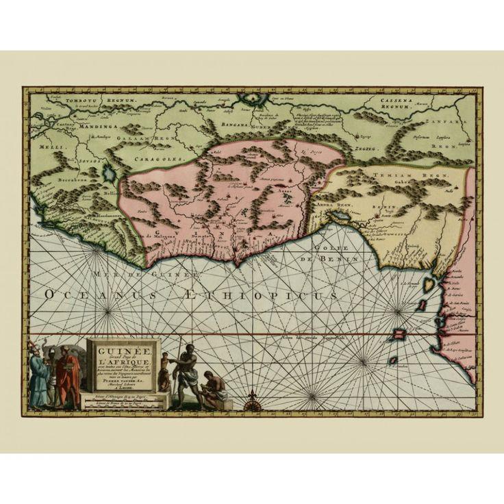 Vintage map of the Gulf of Guinea. Wall aer decoration Handmade paper print.   #map, #antiquemap, #vintagemap, #oldmap #historicalmap, #mapreproduction #mapreproductions #oldmaps, #vintagemaps, #antiquemaps, #historicalmaps #handmadepaper #maps, #africa, #gulfofguinea, #mapdecor, #traveldecor #walldecor, #mapgifts