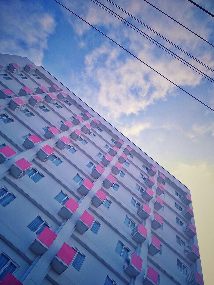 Phonegraphy Pink, patern and repetition on building composition Taken by WahyuSriHastomo
