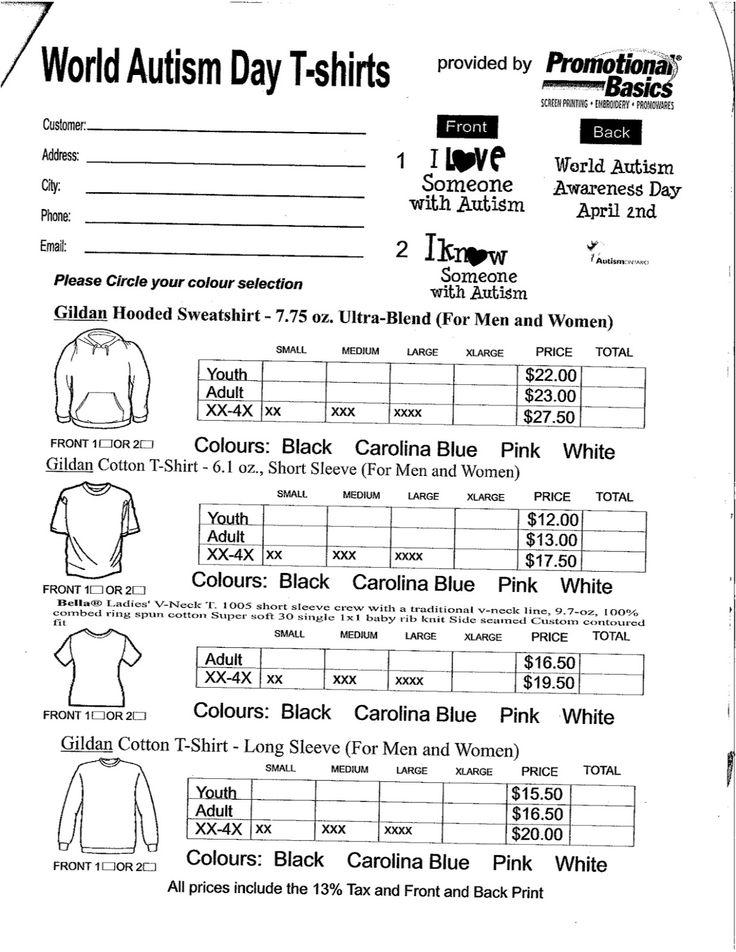 Spirit Wear Form Pta Spirit Shirts Order Form Custom