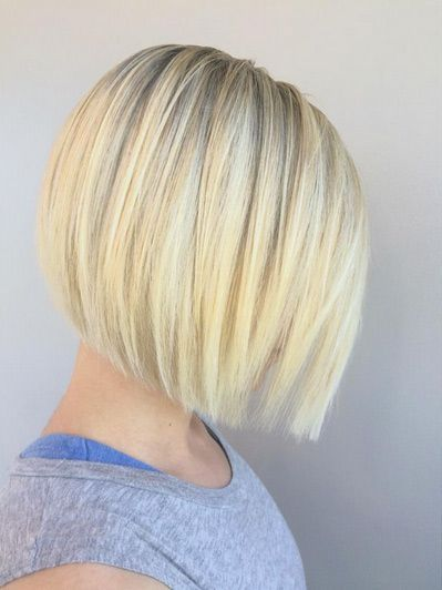 Blunt blonde bob.  Simple and straight never goes out of style. In fact, while choppy bobs have been getting all the attention as of late, straight bobs are just as popular, especially when they posses a little texture in addition to subdued color variances that add to the appearance of texture.