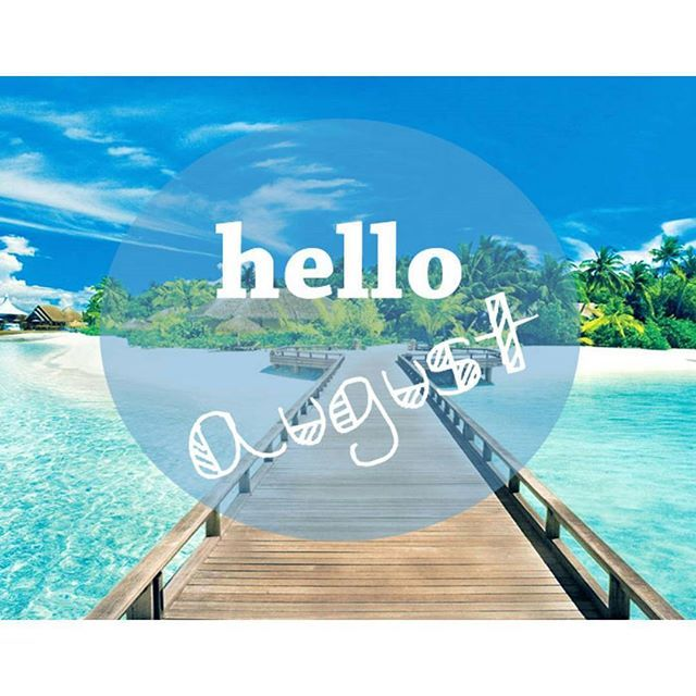 Bienvenido Agosto!! Muchos proyectos empienzan contigo Just #byou #becomplete
