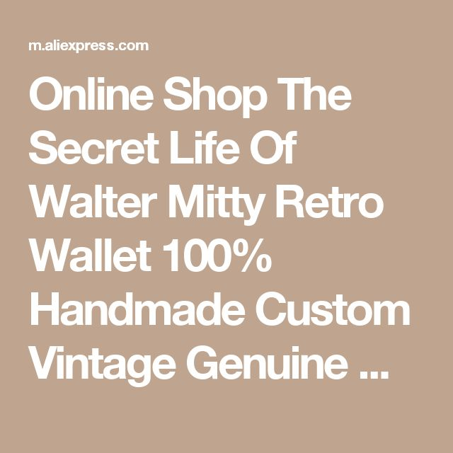 Online Shop The Secret Life Of Walter Mitty Retro Wallet 100% Handmade Custom Vintage Genuine Wallet Crazy Horse Leather Men's purse  | Aliexpress Mobile