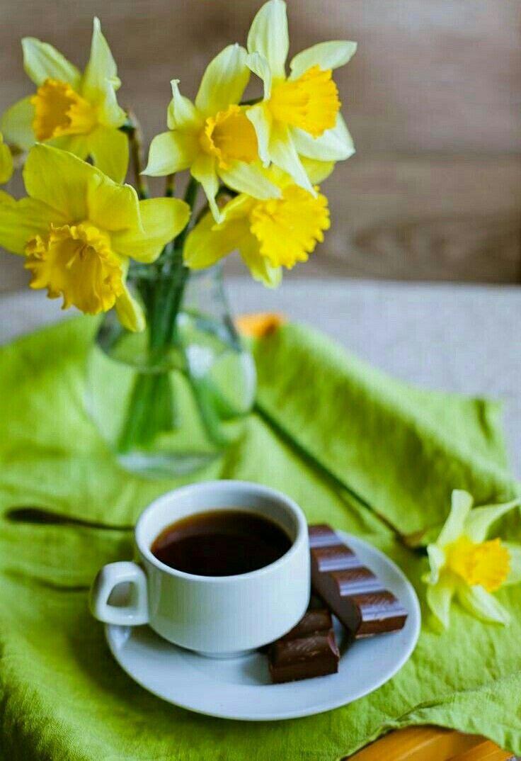 картинка весеннее утро с кофе сшиты прочных износостойких