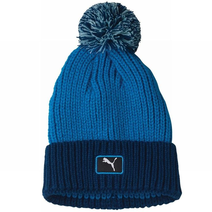 Enjoy maximum warmth and comfort on the course with this great value mens cat patch pom golf beanie hat by Puma!
