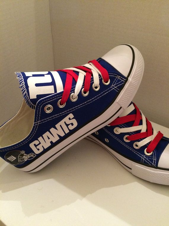 New york giants tennis shoes by sportzshoeking on Etsy  b97df897dac0