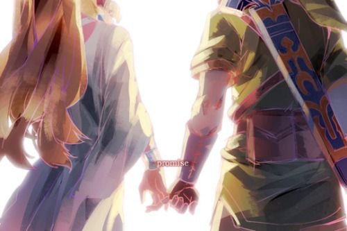 I find this picture so sweet. It sums up Link and Zelda so well. They would both do anything for each other, and that's the foundation of the story.