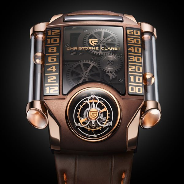 Christophe Claret X-TREM-1 in red gold and chocolate PVD titanium New addition to the Christophe Claret collection (Video) (See more at En/Fr: http://watchmobile7.com/articles/christophe-claret-x-trem-1-red-gold-and-chocolate-pvd-titanium) #watches #montres #christopheclaret