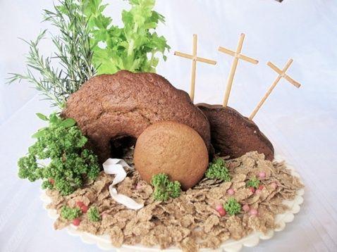 Resurrection tomb cake