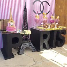 Paris Themed Buffet. Paris Themed Party. Channel Inspired Party. Eiffel Tower Party. Sweet 16 Idea, Quinceanera Idea